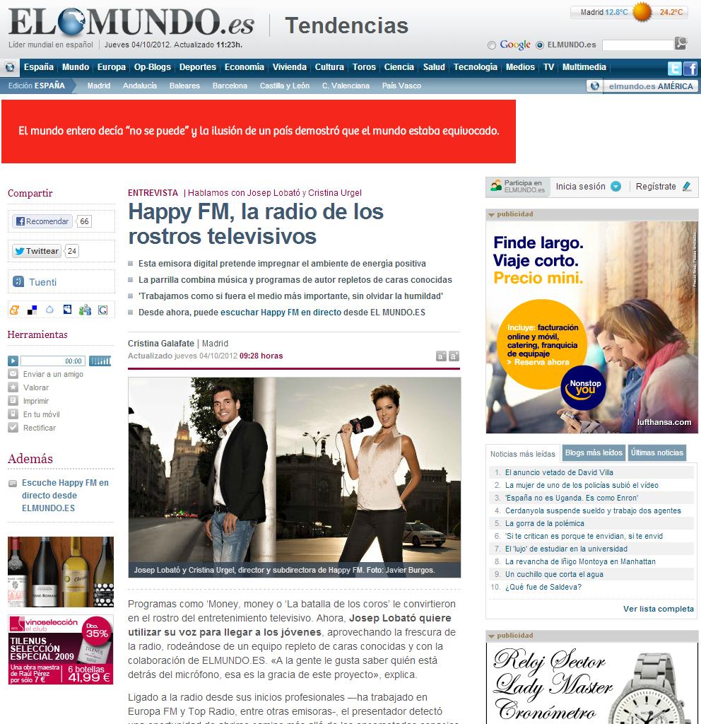 HappyFM - elmundo.es - Javier Burgos - Fotógrafo Profesional Madrid